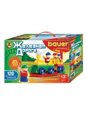 Конструктор Bauer серии Железная дорога 120 эл. (в коробке) 16/16. Цвет: зеленый