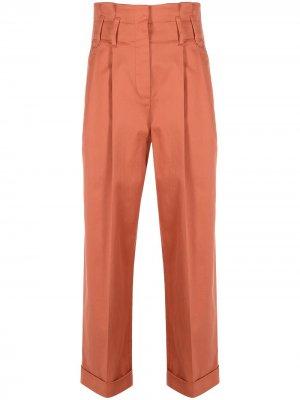 Укороченные брюки прямого кроя Brunello Cucinelli. Цвет: оранжевый
