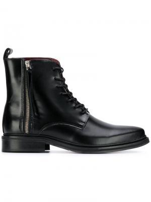Ботильоны с заостренным носком Trussardi Jeans. Цвет: черный