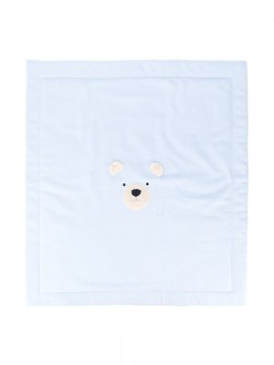 Одеяло с вышивкой Il Gufo. Цвет: синий