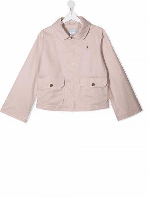 Легкая куртка на молнии Herno Kids. Цвет: розовый