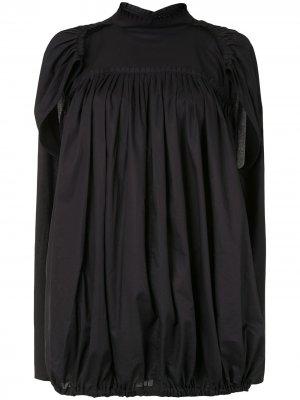 Блузка-кейпом Ann Demeulemeester. Цвет: черный