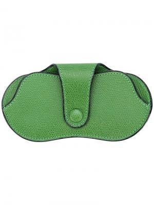 Футляр для солнцезащитных очков Valextra. Цвет: зеленый
