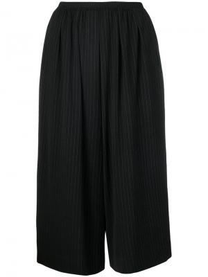 Укороченные брюки-палаццо Antonio Marras. Цвет: черный