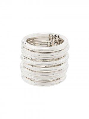 Широкое кольцо AMBUSH. Цвет: серебристый