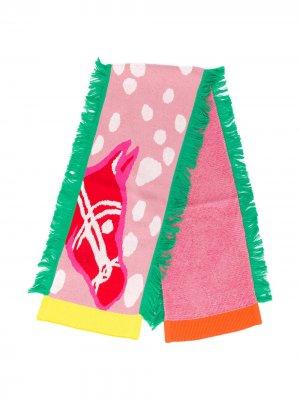 Шарф вязки интарсия Stella McCartney Kids. Цвет: розовый