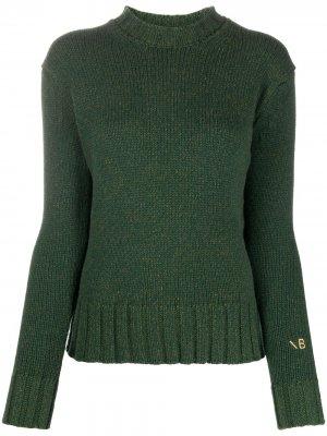 Джемпер фактурной вязки Victoria Beckham. Цвет: зеленый