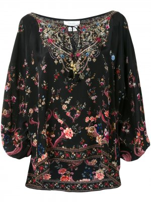 Блузка с рукавами реглан Camilla. Цвет: черный