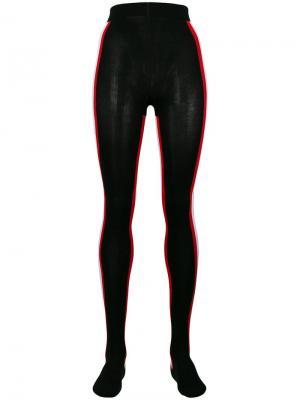 Колготки с полосками по бокам Calvin Klein 205W39nyc. Цвет: черный