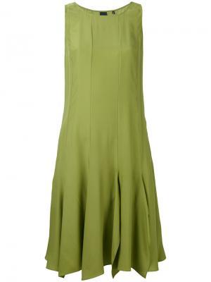 Расклешенное платье Aspesi. Цвет: зеленый