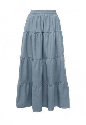 Юбка джинсовая LOST INK. Цвет: голубой