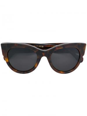 Классические солнцезащитные очки Noa с оправе кошачий глаз Retrosuperfuture. Цвет: коричневый