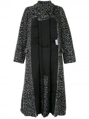 Пальто с вырезом Comme Des Garçons. Цвет: серый