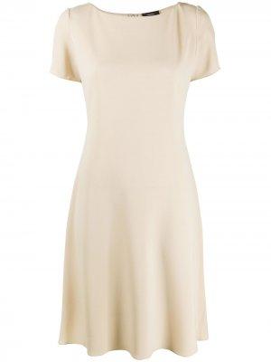 Платье миди с короткими рукавами Theory. Цвет: нейтральные цвета