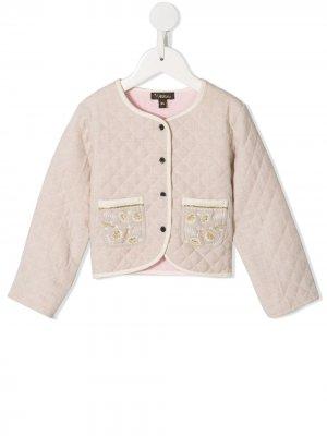 Стеганая куртка Annabelle Velveteen. Цвет: коричневый