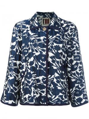 Куртка с цветочным узором IM Isola Marras I'M. Цвет: синий