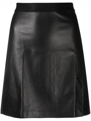 Глянцевая юбка Estelle Wolford. Цвет: черный