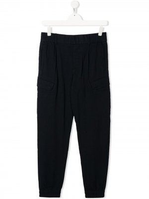 Спортивные брюки в тонкую полоску Emporio Armani Kids. Цвет: синий