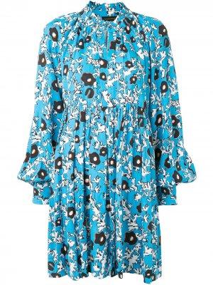 Платье мини с абстрактным принтом Stine Goya. Цвет: черный