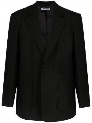 Однобортный пиджак строгого кроя Our Legacy. Цвет: черный