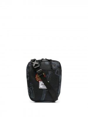 Сумка-мессенджер с графичным принтом Herschel Supply Co.. Цвет: черный