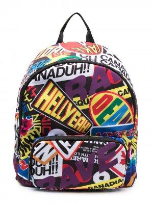 Рюкзак с графичным принтом Dsquared2 Kids. Цвет: белый