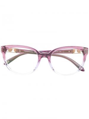 Градиентные очки кошачий глаз Tiffany & Co Eyewear. Цвет: розовый