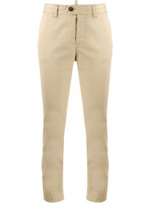 Укороченные брюки с поясом на пуговицах Dsquared2. Цвет: нейтральные цвета