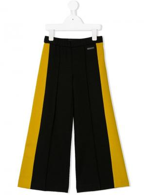 Side panelled pleated trousers Marco Bologna Kids. Цвет: черный