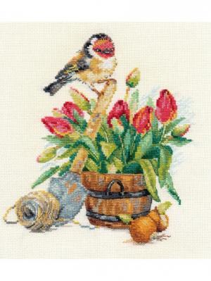 Набор для вышивания Весенняя пора 18х20 см  Алиса. Цвет: зеленый, коричневый, красный