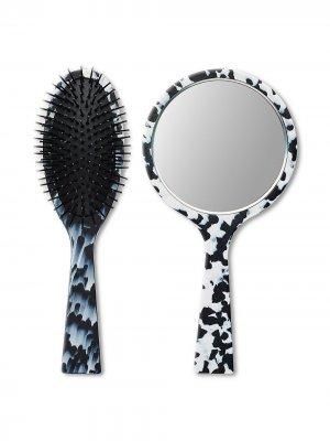 Набор из расчески и зеркала HANDLE. Цвет: черный