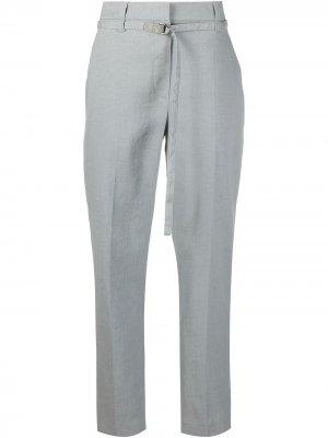 Зауженные брюки с завышенной талией Brunello Cucinelli. Цвет: серый