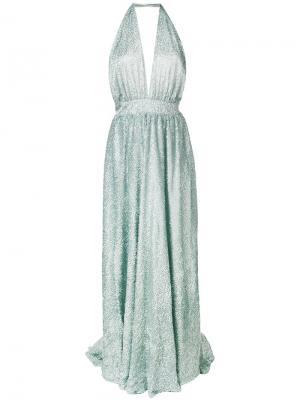 Fil coupé halter gown Ultràchic. Цвет: зеленый