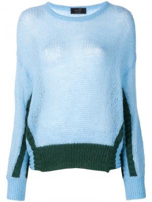 Panelled knit jumper Ki6. Цвет: синий