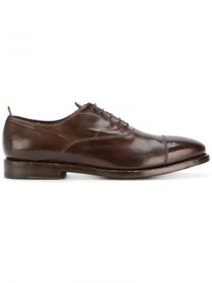 Оксфорды со шнуровкой Officine Creative. Цвет: коричневый