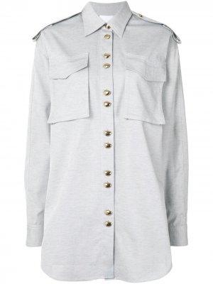 Рубашка Parkway с карманами Acler. Цвет: серый