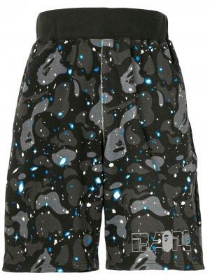 Спортивные шорты Space Camo A BATHING APE®. Цвет: серый