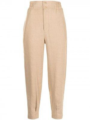 Зауженные брюки с завышенной талией Manning Cartell. Цвет: коричневый