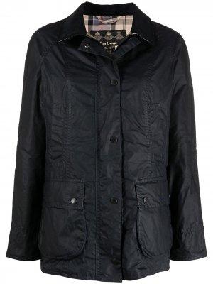 Вощеная куртка Beadnell Barbour. Цвет: синий