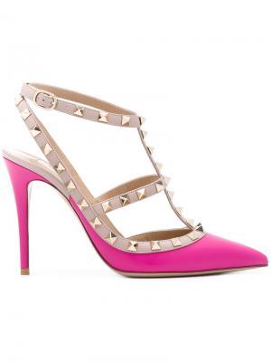 Туфли  Garavani Rockstud Valentino. Цвет: розовый и фиолетовый