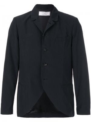 Пиджак в тонкую полоску Société Anonyme. Цвет: синий
