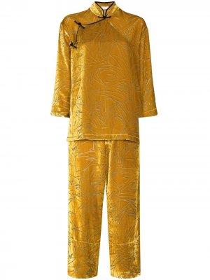 Пижама Harlow с узором Olivia von Halle. Цвет: оранжевый