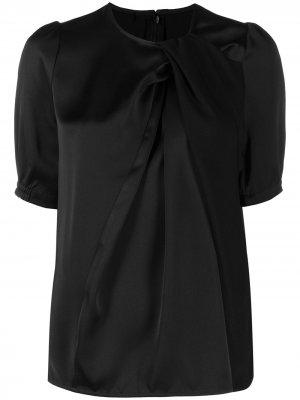 Блузка с драпировкой Baum Und Pferdgarten. Цвет: черный