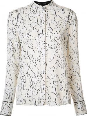 Блузка с узором Proenza Schouler. Цвет: нейтральные цвета