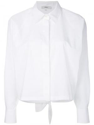 Рубашка с потайной застежкой на пуговицы Mauro Grifoni. Цвет: белый