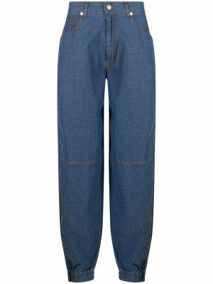 Прямые брюки Love Moschino. Цвет: синий