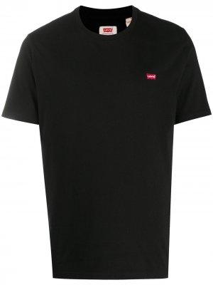 Levis футболка с вышитым логотипом Levi's. Цвет: черный
