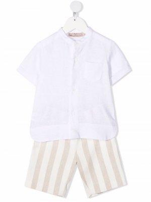 Комплект из рубашки и шортов La Stupenderia. Цвет: нейтральные цвета