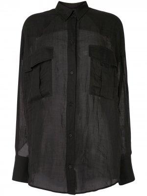Полупрозрачная рубашка Karen Walker. Цвет: черный