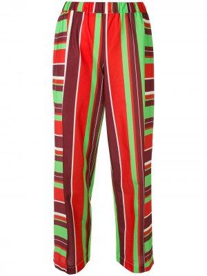 Укороченные брюки в полоску Comme Des Garçons Pre-Owned. Цвет: красный